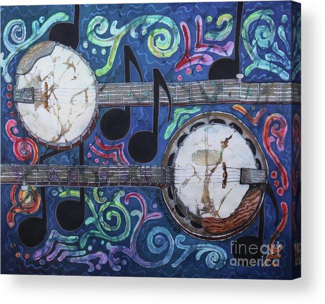 Banjos Acrylic Print featuring the painting Banjos by Sue Duda