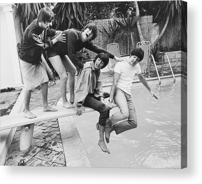 Singer Acrylic Print featuring the photograph Beatles In La by Express