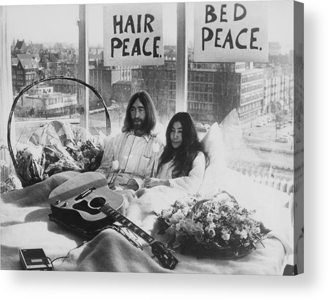 Singer Acrylic Print featuring the photograph Bed-in For Peace by Keystone