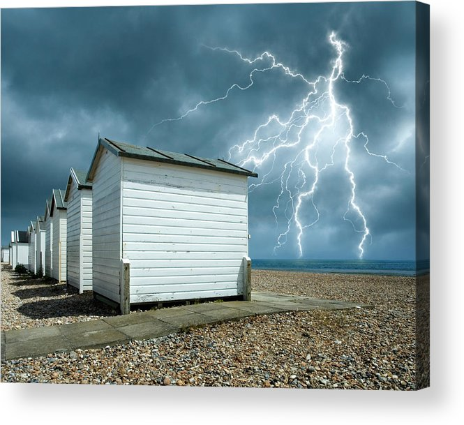 Water's Edge Acrylic Print featuring the photograph Calm Before The Storm by Blackbeck