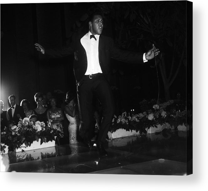 Charity Benefit Acrylic Print featuring the photograph Chubby Checker Demonstrates The Twist by Bert Morgan