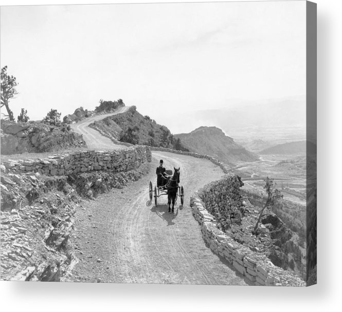 B1019 Acrylic Print featuring the photograph Sky Line Drive, Colorado by George Lytie Beam