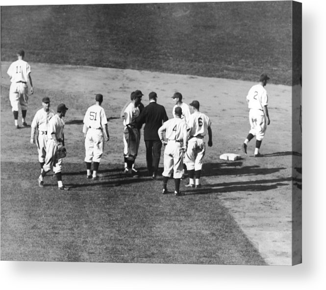 People Acrylic Print featuring the photograph Controversial Call In The 1935 World by Fpg