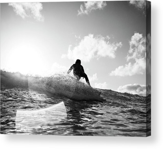 Three Quarter Length Acrylic Print featuring the photograph Crouching by Mark Leary