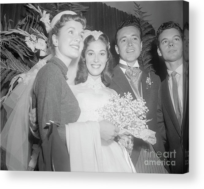 Singer Acrylic Print featuring the photograph Debbie Reynolds With Pier Angeli by Bettmann