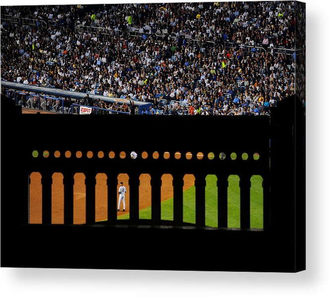 People Acrylic Print featuring the photograph Derek Jeter Can Be Seen Through The by New York Daily News Archive