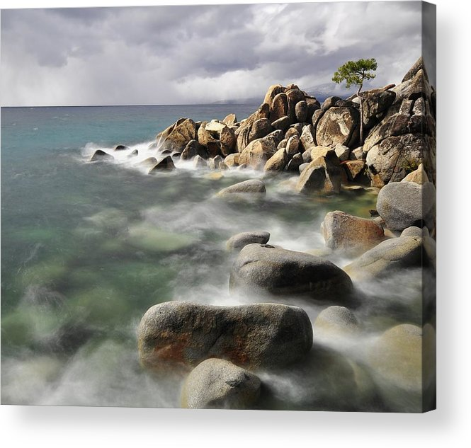 Tranquility Acrylic Print featuring the photograph East Shore, Lake Tahoe by Stevedunleavy.com