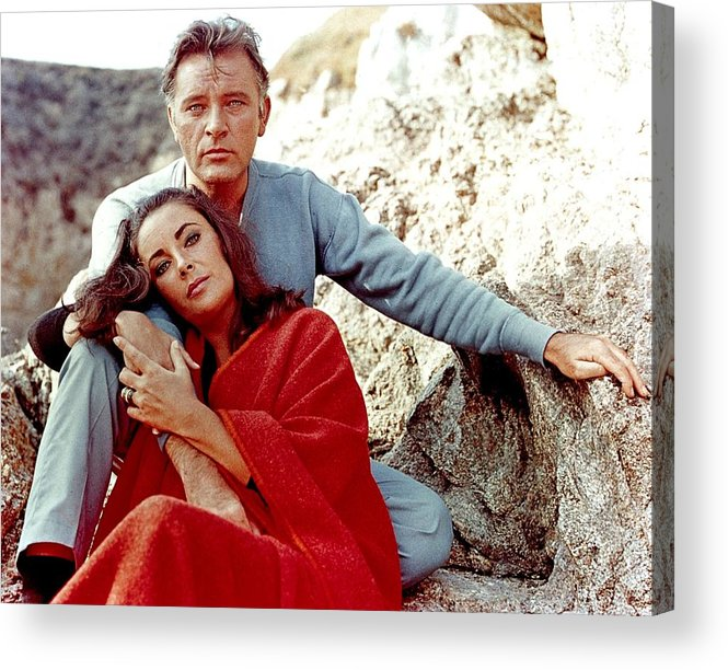 Actor Acrylic Print featuring the photograph Elizabeth Taylor And Richard Burton On by Api