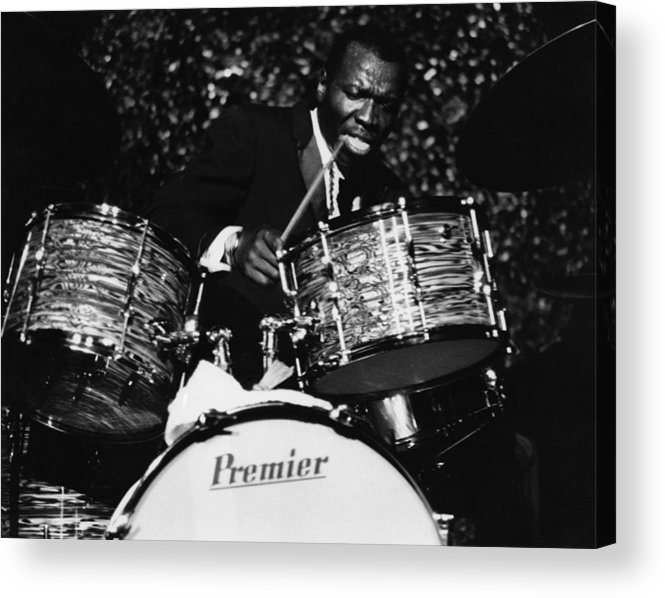 Concert Acrylic Print featuring the photograph Elvin Jones On Drums by David Redfern