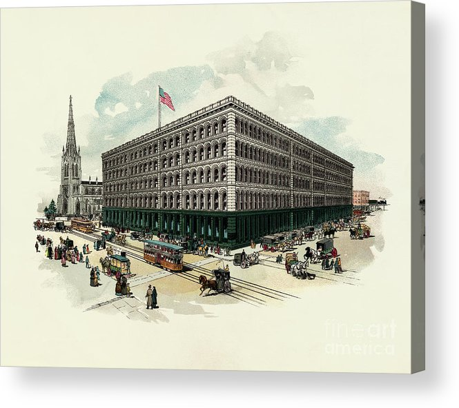 East Acrylic Print featuring the photograph Exterior Of A T Stewart Department Store by Bettmann