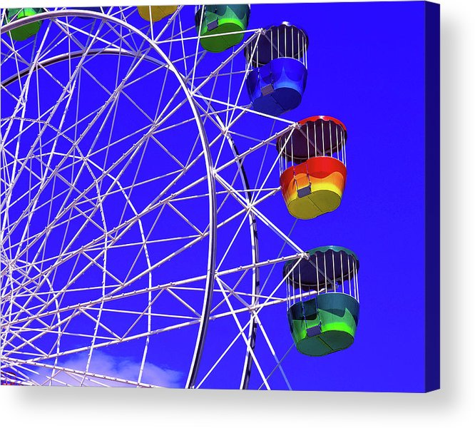 Outdoors Acrylic Print featuring the photograph Ferris Wheel, Sydney, Australia by Hans-peter Merten