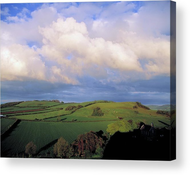 Tranquility Acrylic Print featuring the photograph Fields Around Dunamace, Co Laois by Design Pics