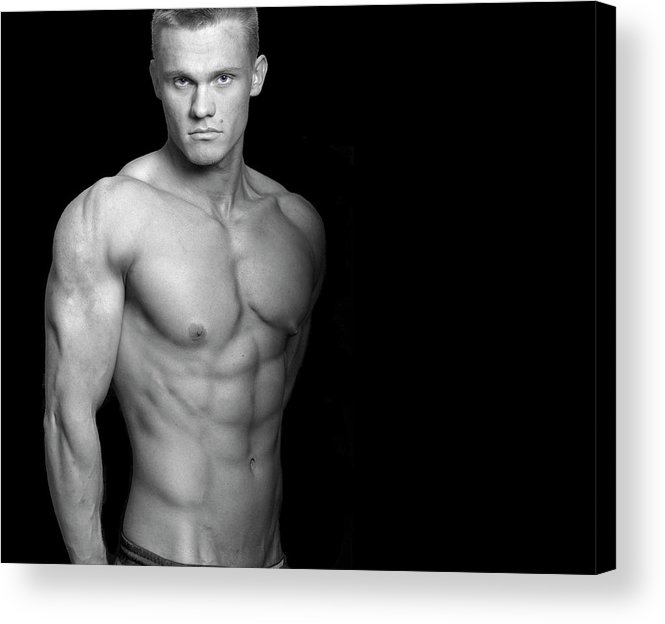 Cool Attitude Acrylic Print featuring the photograph Fitness Portrait by Ragnak