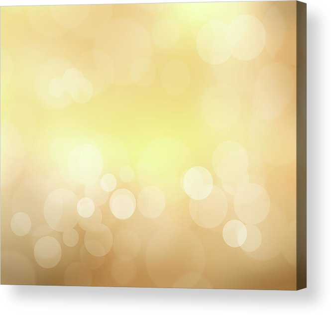 Backdrop Acrylic Print featuring the photograph Golden Glitter by Kwaigon