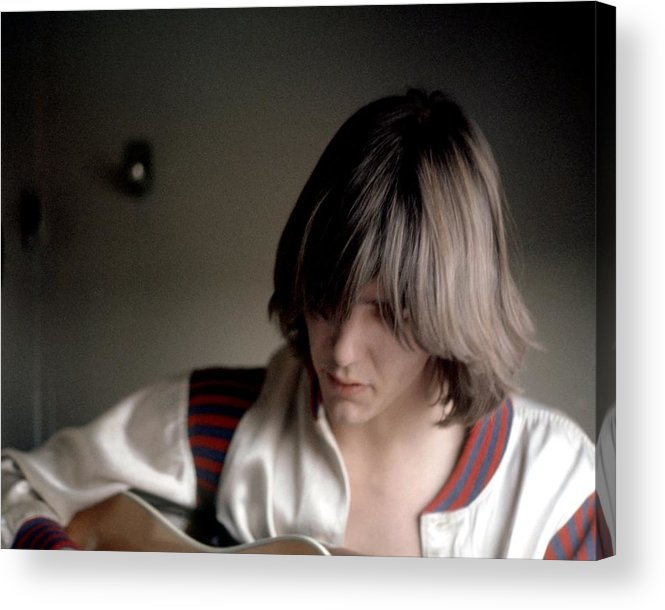 Singer Acrylic Print featuring the photograph Gram Parsons In Chicago by Michael Ochs Archives
