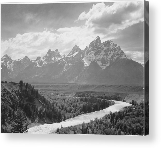 Snow Acrylic Print featuring the photograph Grand Teton by Buyenlarge