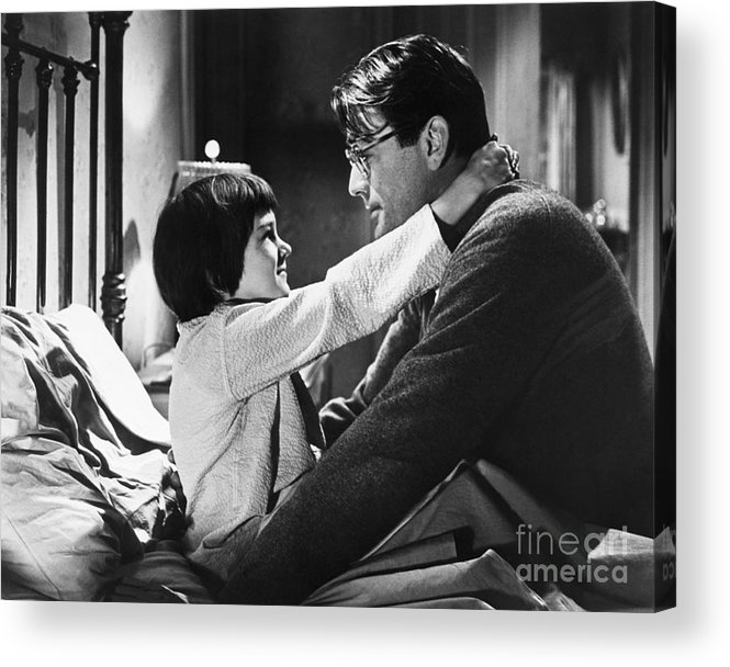 Child Acrylic Print featuring the photograph Gregory Peck And Mary Badham In To Kill by Bettmann