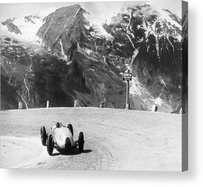 Country And Western Music Acrylic Print featuring the photograph Hermann Muller In An Auto Union, German by Heritage Images