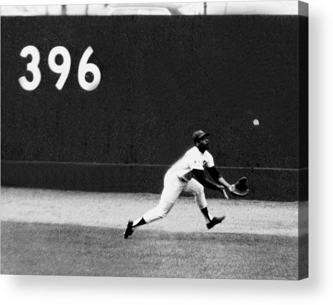 American League Baseball Acrylic Print featuring the photograph In One Of The Greatest Exhibitions By by New York Daily News Archive