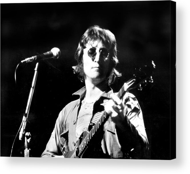 Usa Acrylic Print featuring the photograph John Lennon. Performing At Th One To by New York Daily News Archive