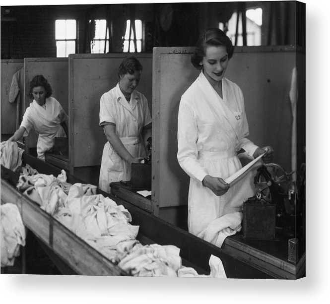 Working Acrylic Print featuring the photograph Laundry Workers by Chaloner Woods