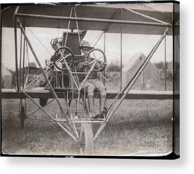 People Acrylic Print featuring the photograph Lieutenant Geiger Sitting In Cockpit by Bettmann