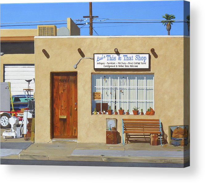 Lisa Acrylic Print featuring the painting Lisas This And That by Michael Ward