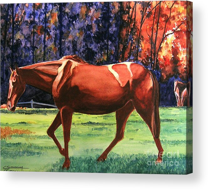 Horse Acrylic Print featuring the painting Mare by Christian Simonian