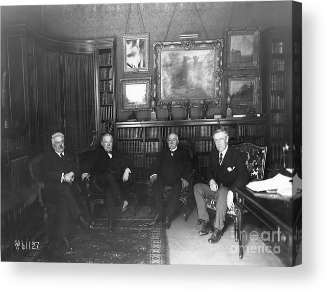 Versailles Acrylic Print featuring the photograph Members Of Versailles Conference by Bettmann