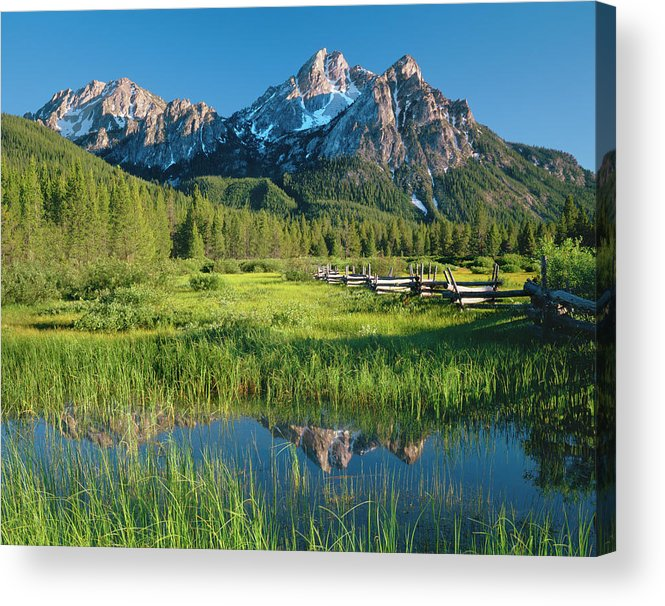 Scenics Acrylic Print featuring the photograph Morning Light Reflections P by Ron thomas