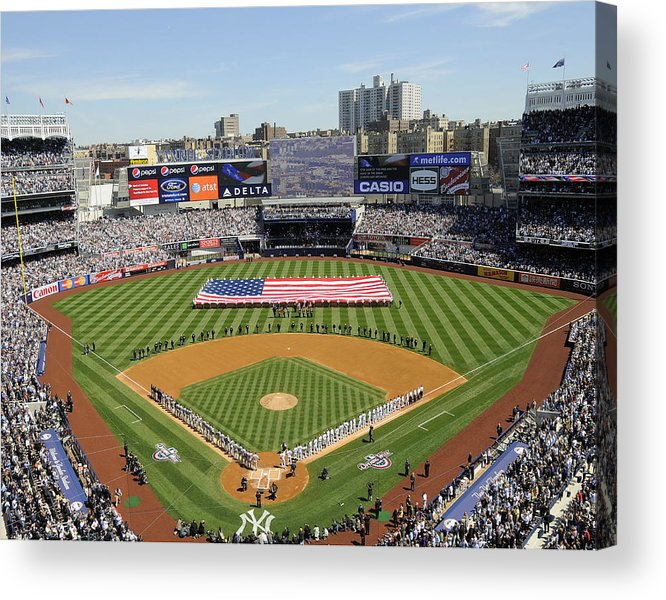 American League Baseball Acrylic Print featuring the photograph Opening Day Yankee Stadium. New York by New York Daily News Archive