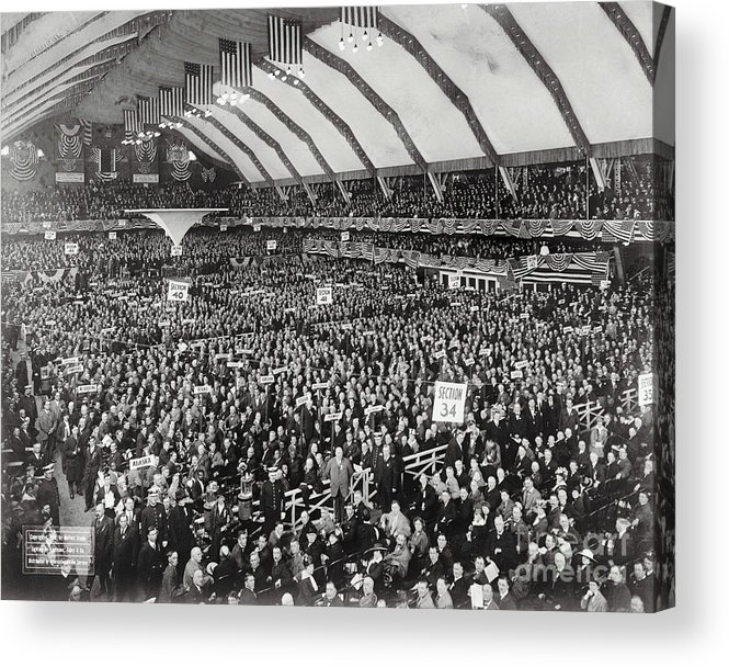 People Acrylic Print featuring the photograph Opening Of G.o.p. Convention by Bettmann