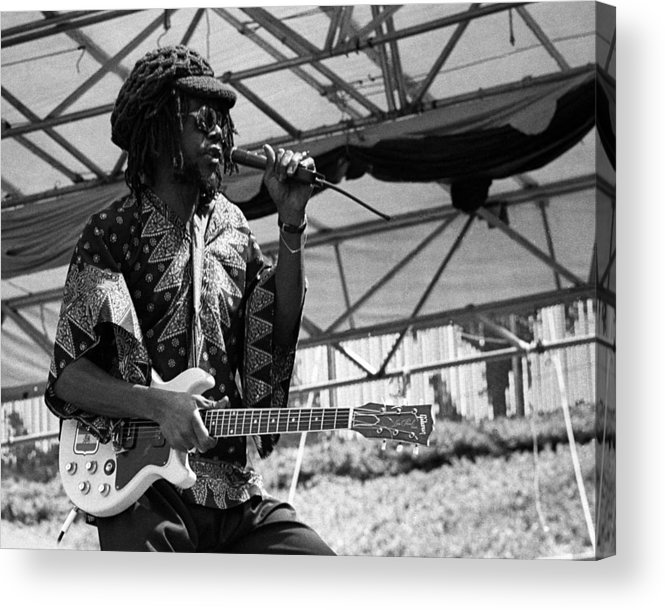 Music Acrylic Print featuring the photograph Peter Tosh Live by Larry Hulst