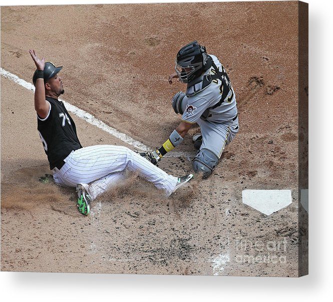 American League Baseball Acrylic Print featuring the photograph Pittsburgh Pirates V Chicago White Sox by Jonathan Daniel