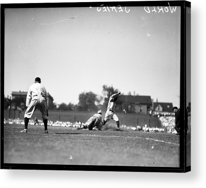 People Acrylic Print featuring the photograph Play During The 1929 World Series by Chicago History Museum