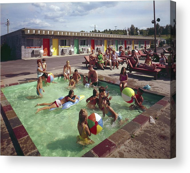 Recreational Pursuit Acrylic Print featuring the photograph Poolside Fun At Arca Manor by Aladdin Color Inc