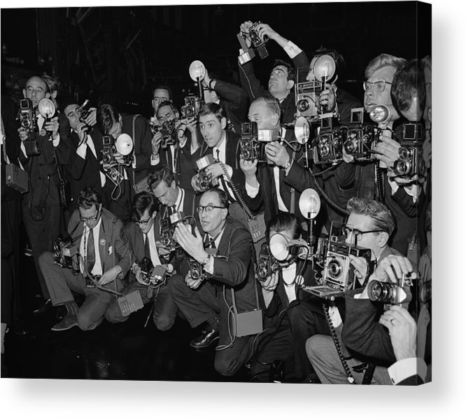 Crowd Acrylic Print featuring the photograph Press Fuss by Fox Photos