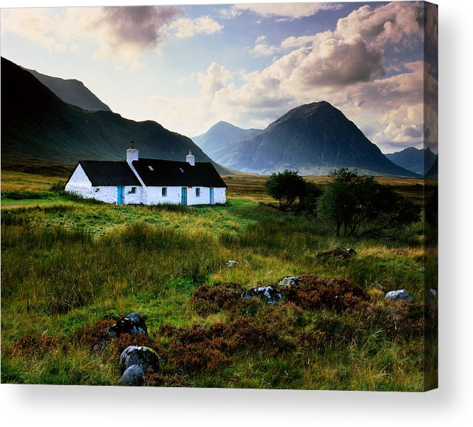 Scenics Acrylic Print featuring the photograph Scotland,glencoe,black Rock Cottage by Charlie Waite