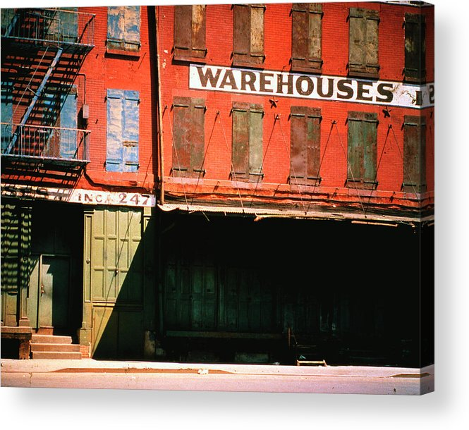 Timeincown Acrylic Print featuring the photograph Shuttered Warehouse On The Lower East by Walker Evans