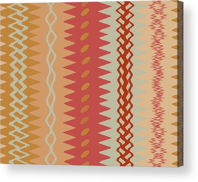 Abstract Acrylic Print featuring the digital art Sienna Peach Abstract by Ruth Palmer