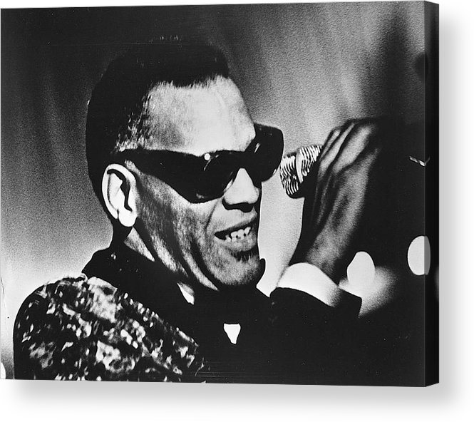 People Acrylic Print featuring the photograph Singer Ray Charles by Afro Newspaper/gado