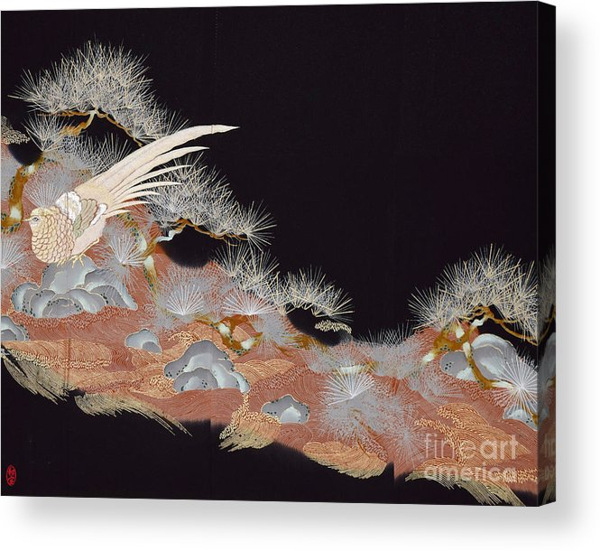 Acrylic Print featuring the digital art Spirit of Japan T17 by Miho Kanamori