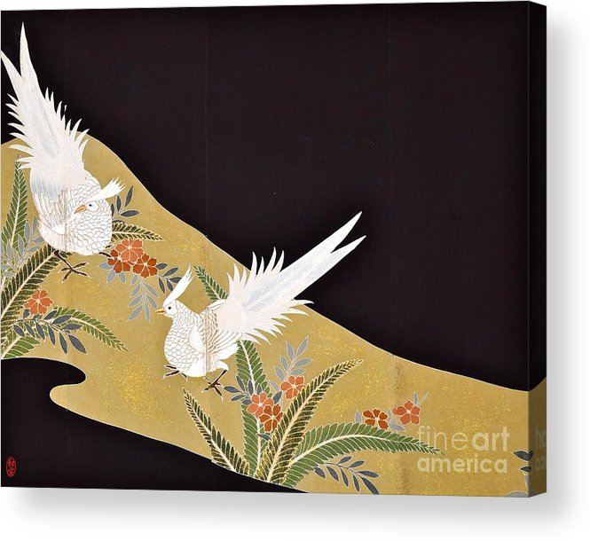 Acrylic Print featuring the digital art Spirit of Japan T28 by Miho Kanamori