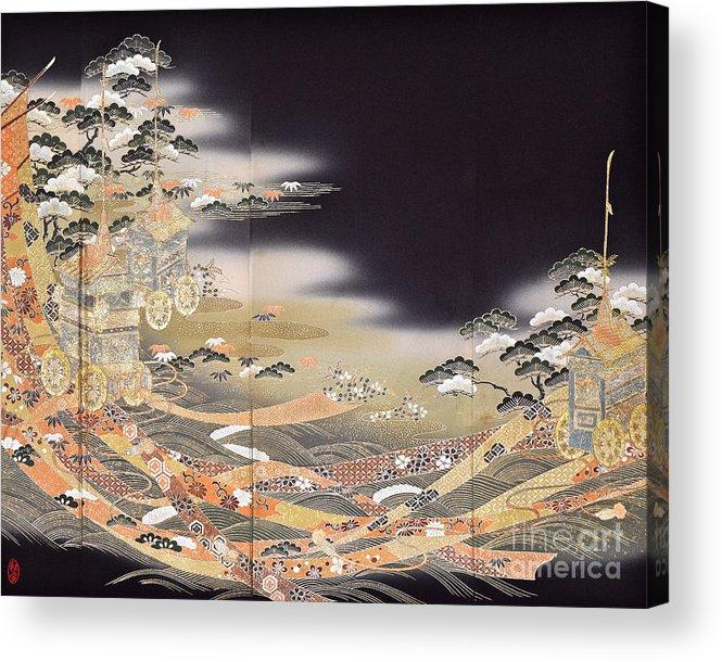 Acrylic Print featuring the digital art Spirit of Japan T29 by Miho Kanamori