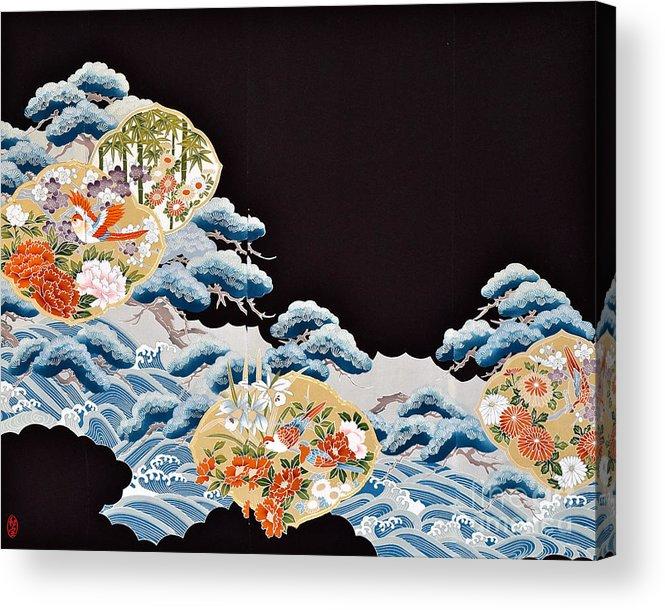 Acrylic Print featuring the digital art Spirit of Japan T6 by Miho Kanamori