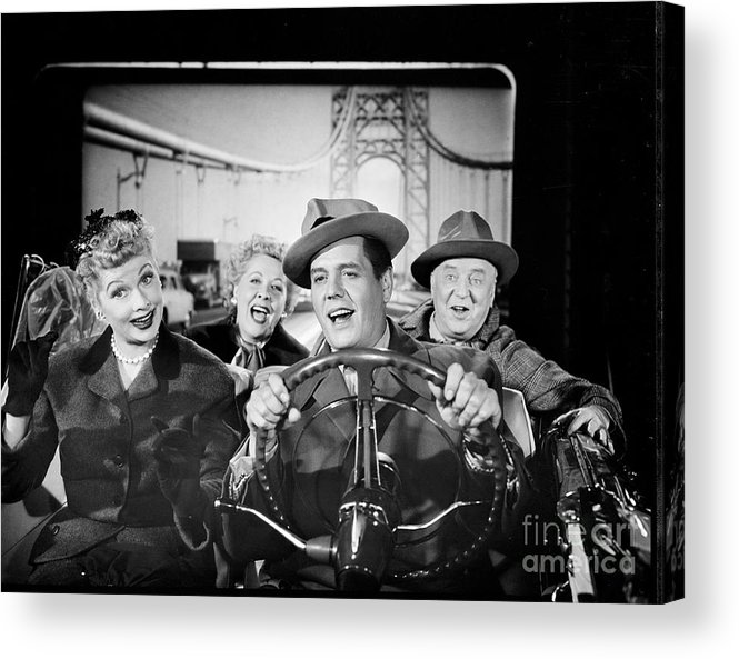 Fedora Acrylic Print featuring the photograph The Cast Of I Love Lucy by Cbs Photo Archive
