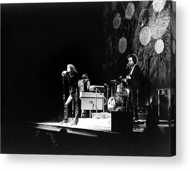 Rock Music Acrylic Print featuring the photograph The Doors At The Fillmore East by Fred W. McDarrah