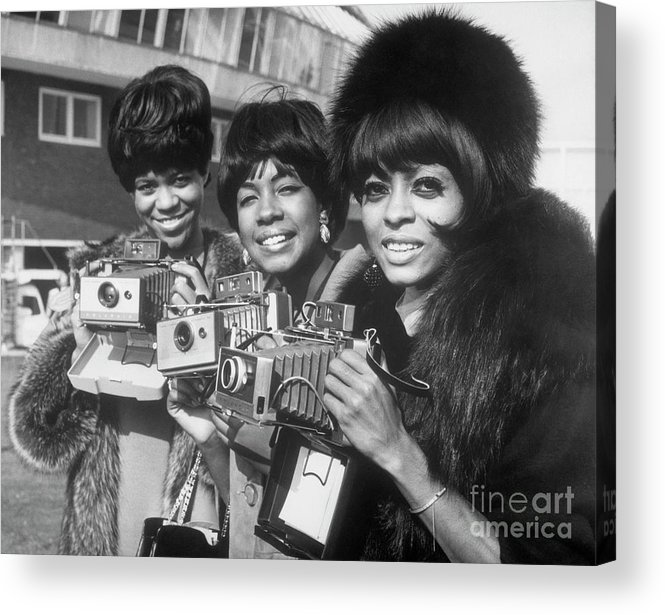 Singer Acrylic Print featuring the photograph The Supremes With Cameras In London by Bettmann