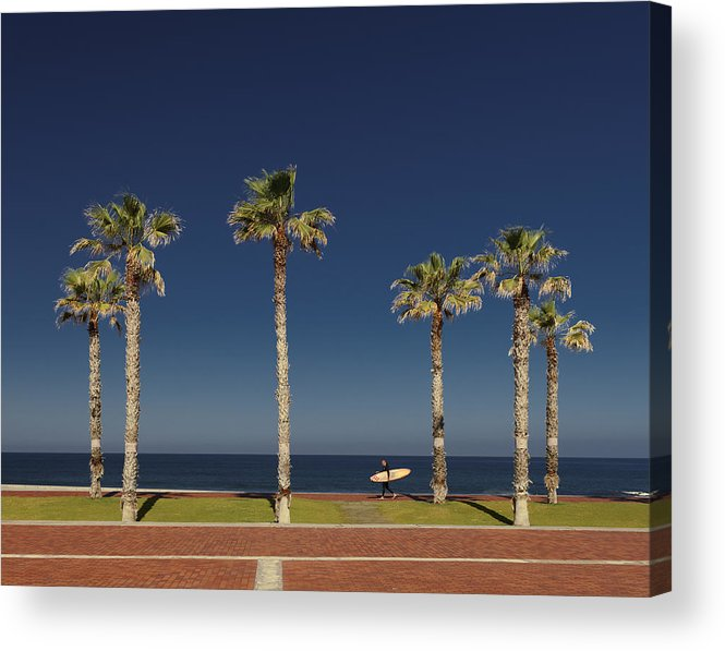 Walking Acrylic Print featuring the photograph The Surfer by Jakob Arnholtz