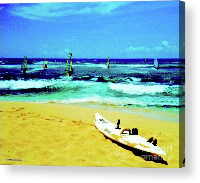 Windsurfing Acrylic Print featuring the photograph Windsurfing by Jerome Stumphauzer